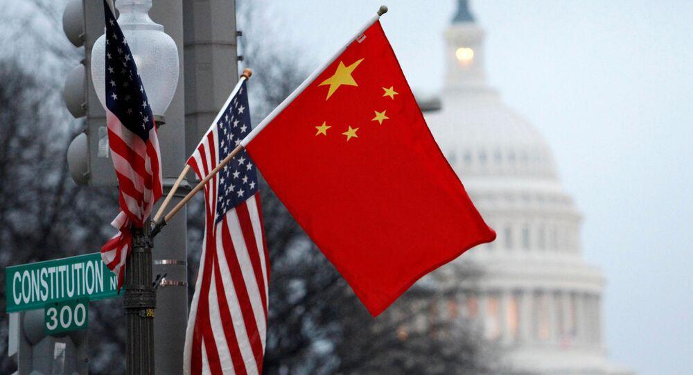 علم الصين والولايات المتحدة
