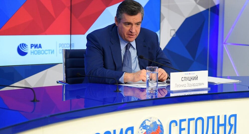 رئيس لجنة الدوما الدولة للشؤون الخارجية ليونيد سلوتسكوي