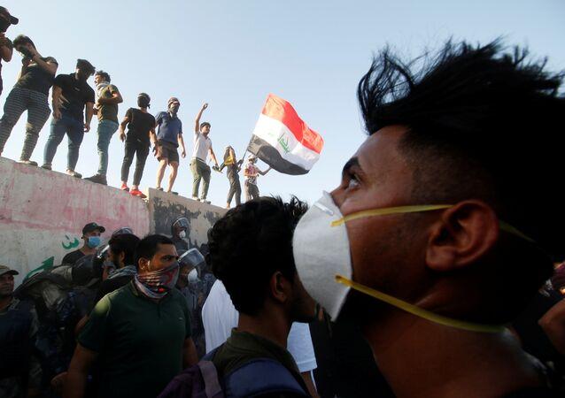 التظاهرات في البصرة