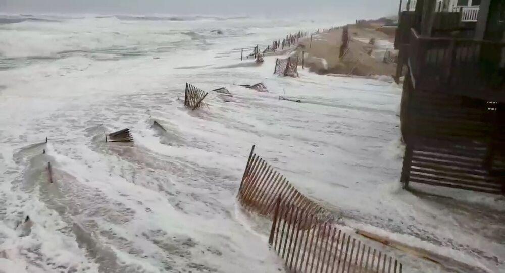 إعصار فلورنس في آيفون، ولاية نورث كارولينا (كارولينا الشمالية)، الولايات المتحدة  13سبتمبر/ أيلول 2018