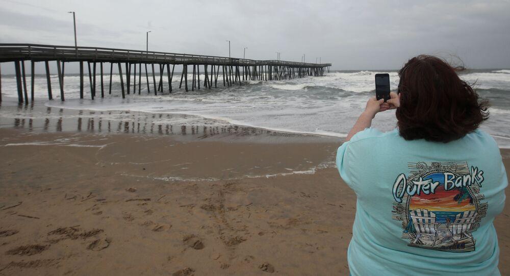 إعصار فلورنس على ساحل فيرجينيا، ولاية نورث كارولينا (كارولينا الشمالية)، الولايات المتحدة  13 سبتمبر/ أيلول 2018