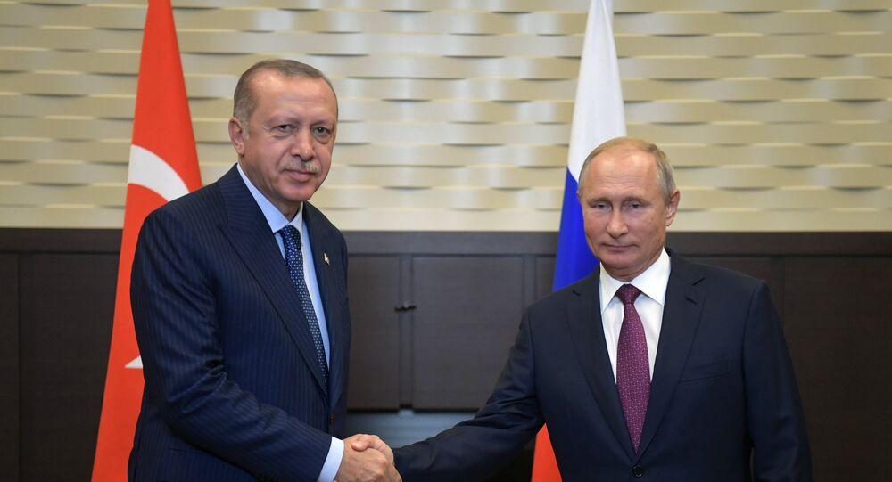 الرئيس بوتين يلتقي نظيره التركي أردوغان في سوتشي الروسية