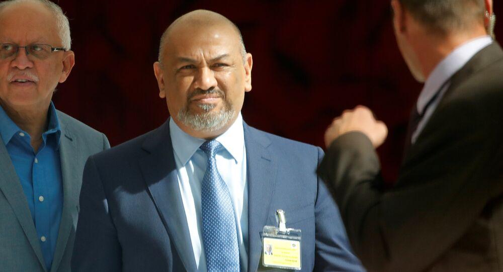 وزير الخارجية اليمنية، خالد اليمني، في جينيف، 7  سبتمبر/ أيلول 2018