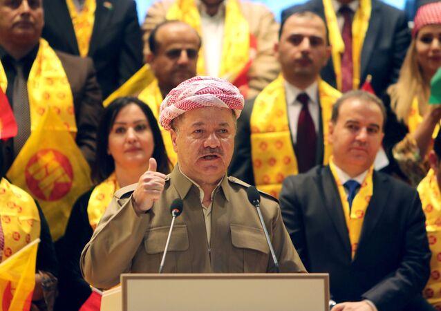 زعيم إقليم كردستان العراق السابق مسعود برزاني في إربيل، العراق 11 سبتمبر/ أيلول 2018