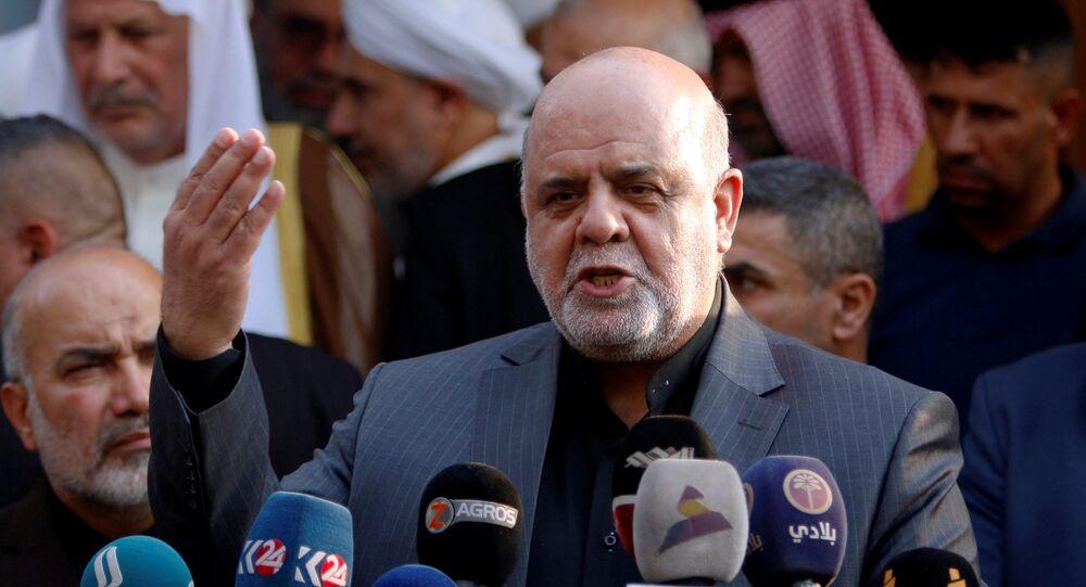 سفير إيران إلى العراق، إيرج مسجدي خلال مؤتمر صحفي في مدينة البصرة، العراق 11 سبتمبر/ أيلول 2018