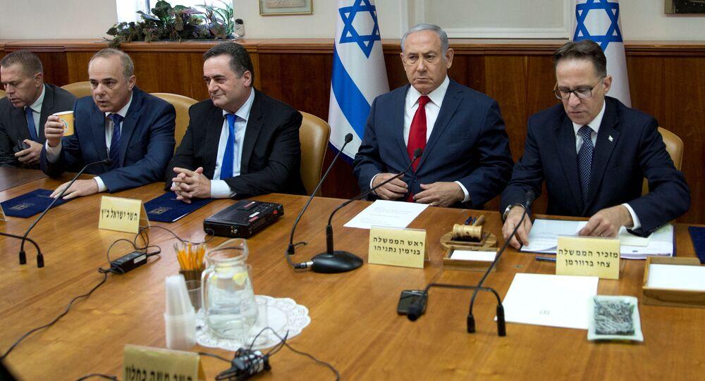 الحكومة الإسرائيلية، جلسة، رئيس الوزراء الإسرائيلي بنيامين نتنياهو