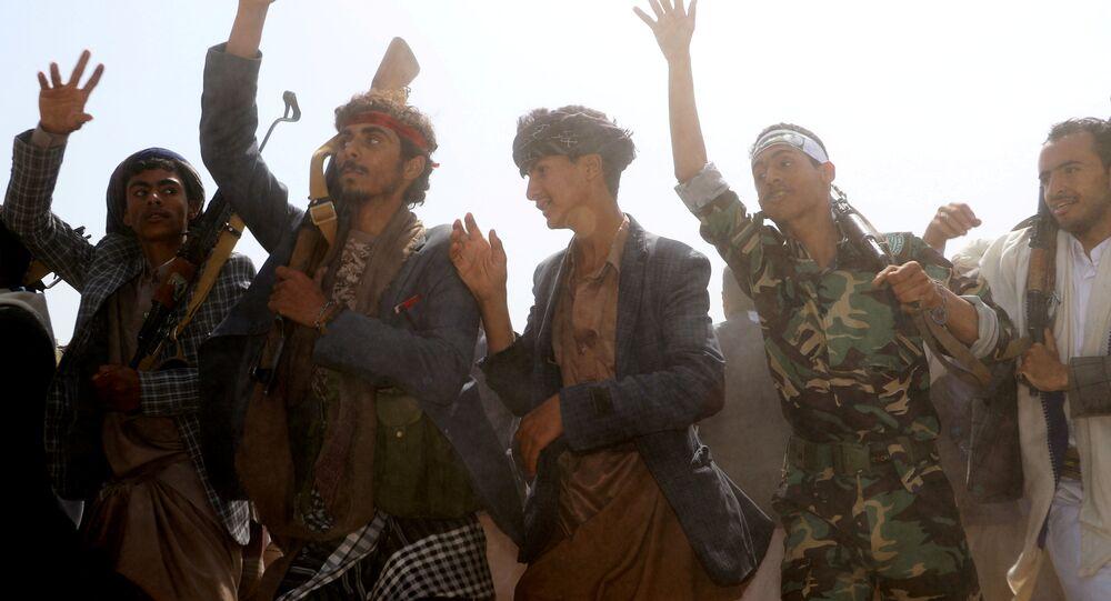 الحوثيون، جماعة أنصار الله، صنعاء، اليمن 29 أغسطس/ آب 2018
