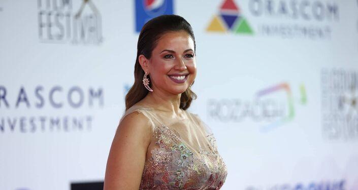 مقدمة البرامح اللبنانية ريا أبي راشد في افتتاح مهرجان الجونة السينمائي الثاني، 20 سبتمبر/أيلول 2018