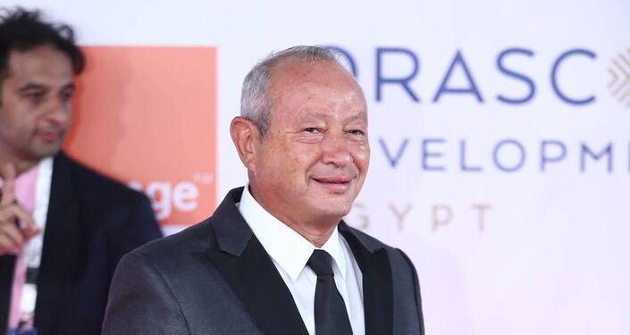رجل الأعمال المصري نجيب ساويرس في افتتاح مهرجان الجونة السينمائي الثاني، 20 سبتمبر/أيلول 2018