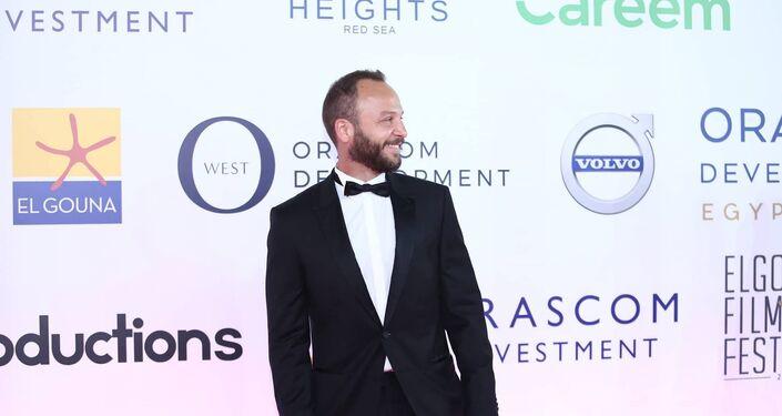 الممثل اللبناني مكسيم خليل في افتتاح مهرجان الجونة السينمائي، 20 سبتمبر/أيلول 2018