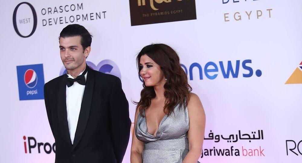 الممثلة المصرية غادة عادل في افتتاح مهرجان الجونة السينمائي الثاني، 20 سبتمبر/أيلول 2018