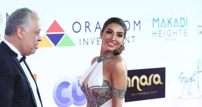 الممثلة المصرية روجينا في افتتاح مهرجان الجونة السينمائي، 20 سبتمبر/أيلول 2018