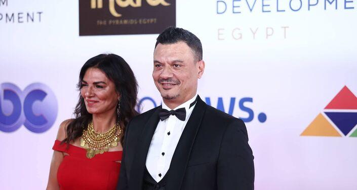 الممثل والسيناريست المصري عباس أبو الحسن في افتتاح مهرجان الجونة السينمائي الثاني، 20 سبتمبر/أيلول 2018