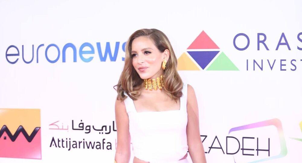 الممثلة المصرية جميلة عوض في افتتاح مهرجان الجونة السينمائي الثاني، 20 سبتمبر/أيلول 2018
