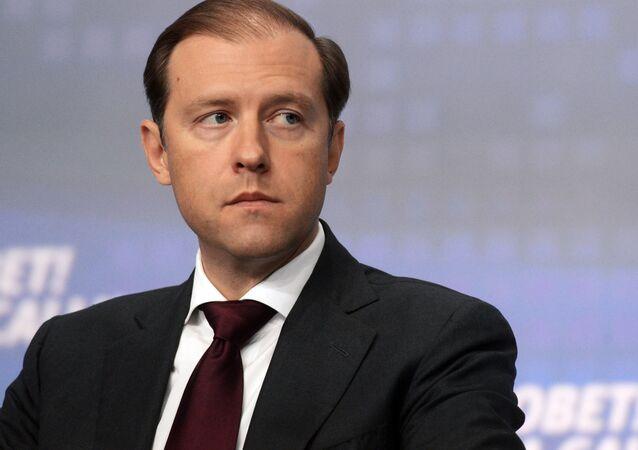 وزير التجارة والصناعة الروسي، دنيس مانتوروف