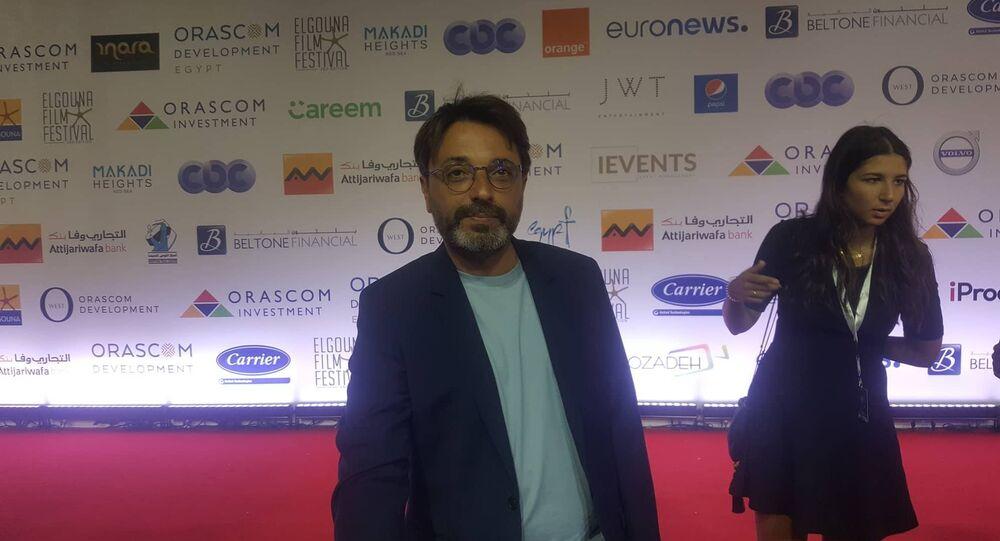 المخرج التونسي محمد بن عطية في مهرجان الجونة السينمائي