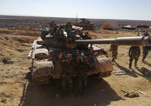 الجيش السوري يستأنف هجوما ضاريا ضد داعش في تلول الصفا