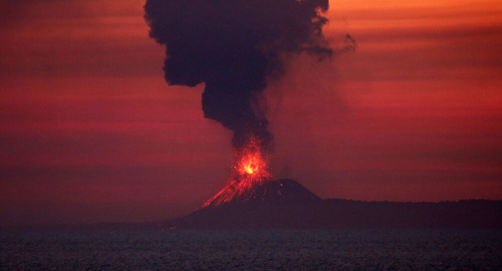 بركان أناك كراكاتاو، إندونيسيا 22 سبتمبر/ أيلول 2018
