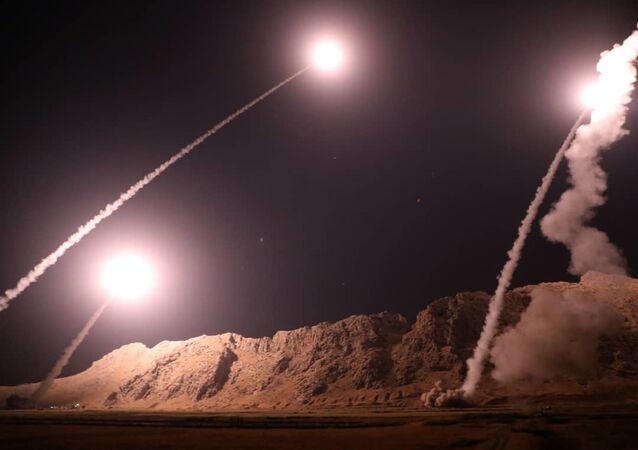 الصواريخ الباليستية الحرس الثوري التي استهدفت مجموعات إرهابية في البوكمال السورية