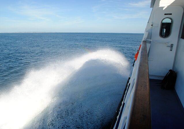 سفينة. بحر البلطيق. صورة تعبيرية
