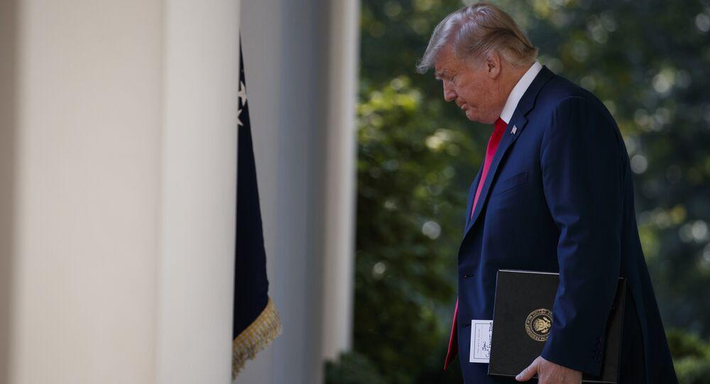 الرئيس الأمريكي دونالد ترامب في البيت الأبيض، واشنطن 1 أكتوبر/ تشرين الأول 2018