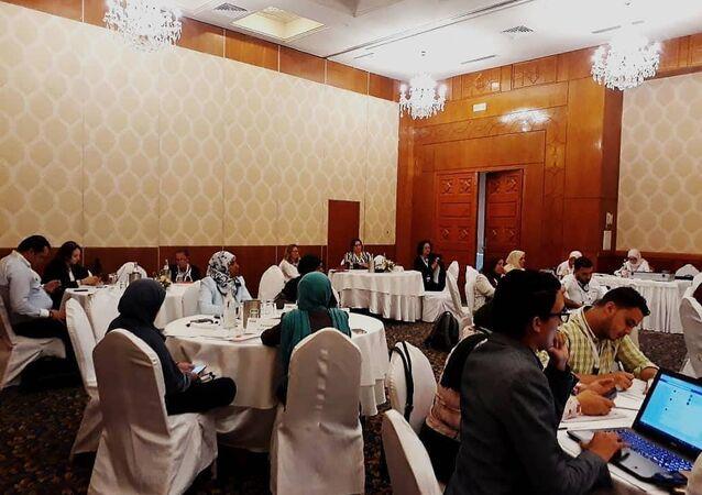 الدورة التدريبية  بتونس، لمشروع سفراء السلام المرحلة الثالثة وعدد من منظمات المجتمع المدني
