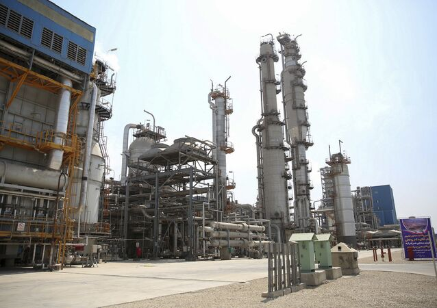 Pardis petrochemical complex facilities in Assalouyeh on the northern coast of the Persian Gulf, Iran, Tuesday, Sept. 4, 2018. Iranian President Hassan Rouhani said Tuesday his country will continue exporting crude oil despite U.S. efforts to stop it through sanctions