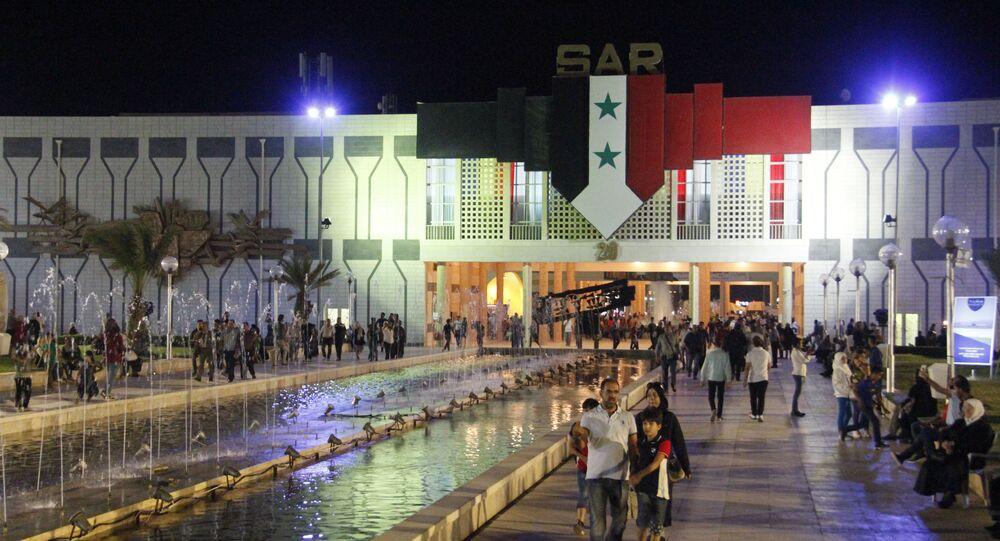 منظر عام في معرض دمشق الدولي بمدينة دمشق