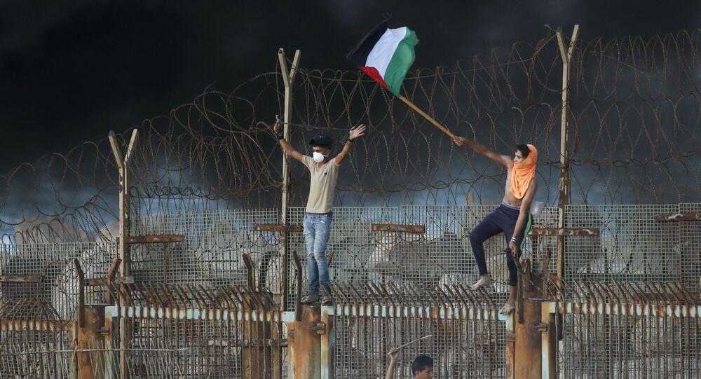 استمرار احتجاجت الفلسطينيين على السياج الحدودي بين قطاع غزة وإسرائيل، 8 أكتوبر/ تشرين الأول 2018