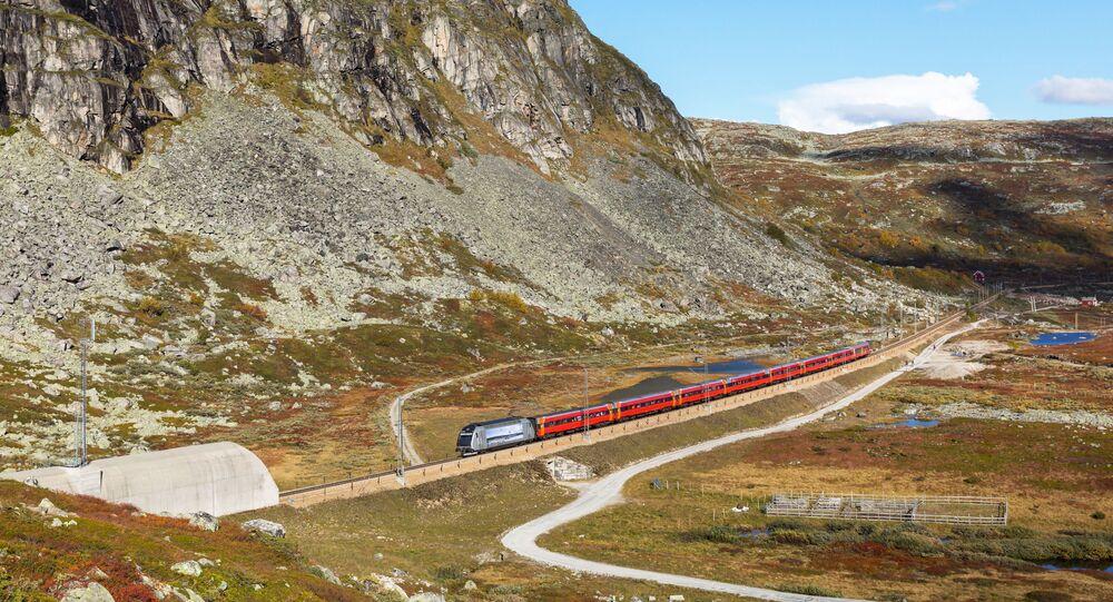 السكة الحديدية التي تربط مدينتي أوسلو وبيرغن في النرويج