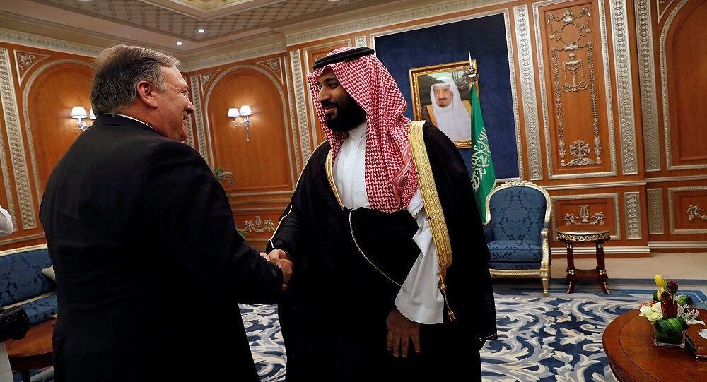 لقاء ولي العهد السعودي محمد بن سلمان مع وزير الخارجية الأمريكي مايك بومبيو