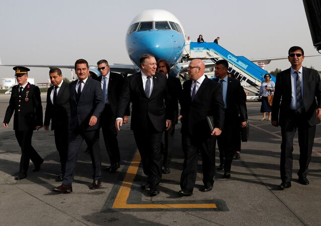 US Secretary of State Mike Pompeo Arrives in Ankara
