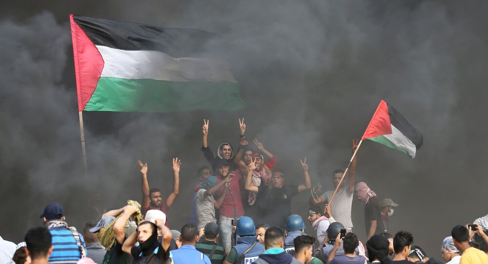 استمرار الاحتجاجات والمطالبة برفع الحصار عن قطاع غزة، الحدود بين قطاع غزة وإسرائيل، 19 أكتوبر/ تشرين الأول 2018
