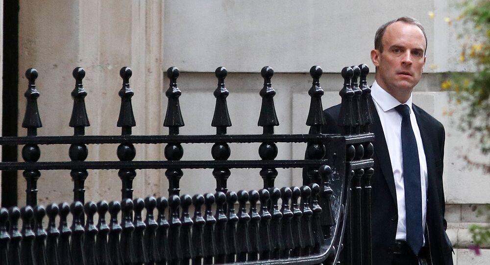 دومينيك راب وزير شئون انسحاب بريطانيا من الاتحاد الأوروبي
