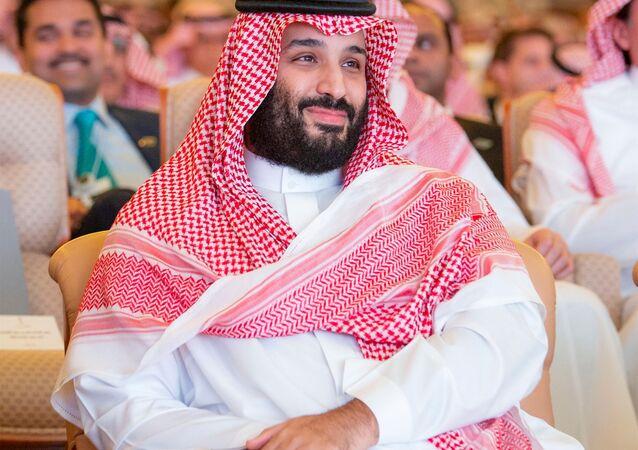 ولي العهد السعودي محمد بن سلمان في مؤتمر مبادرة الاستثمار المستقبلي في الرياض، 23 أكتوبر/ تشرين الأول 2018