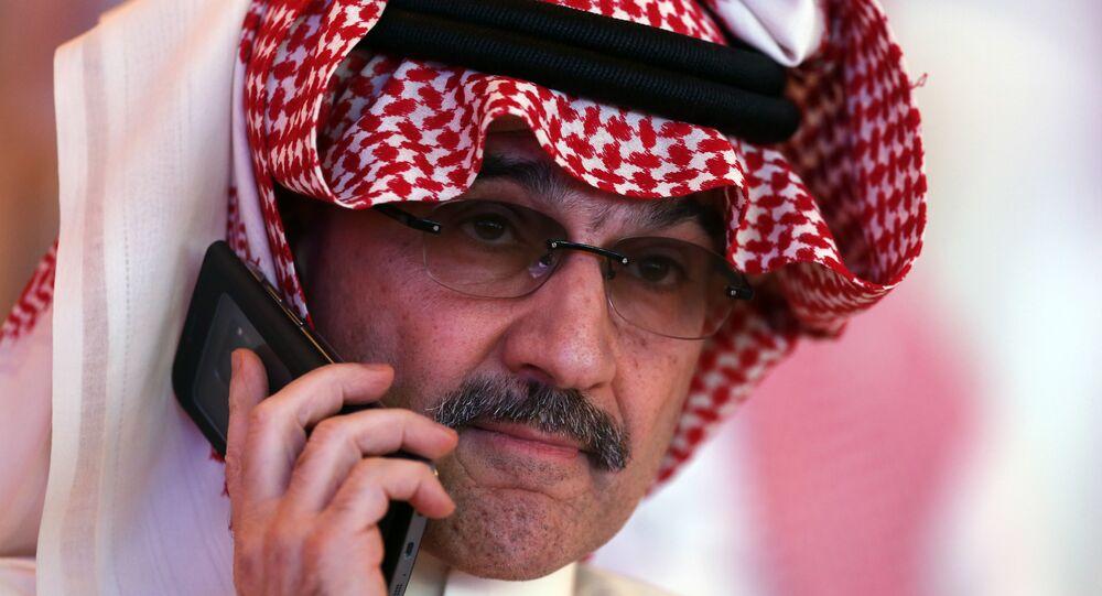الأمير السعودي الوليد بن طلال في مؤتمر مبادرة الاستثمار المستقبلي في الرياض، 24 أكتوبر/ تشرين الأول 2018