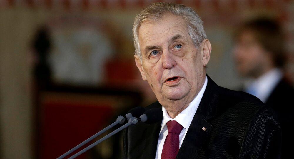 الرئيس التشيكي، ميلوش زيمان