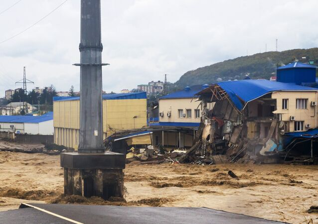 الفيضانات في إقليم كراسنودار جنوب روسيا