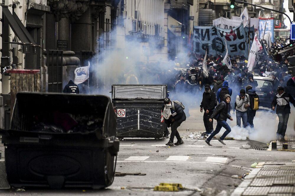 احتجاجات في العاصمة الأجرنتينية بوينس آيروس، 24 أكتوبر/ تشرين الأول 2018