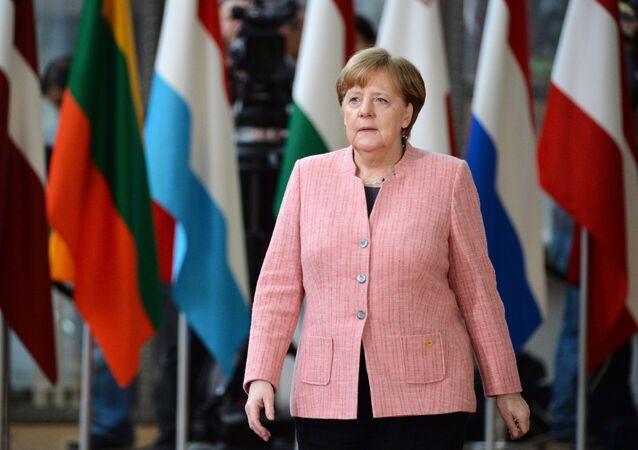 المستشارة الألمانية أنجيلا ميركل، ورئيسة حزب الاتحاد المسيحي الديموقراطي