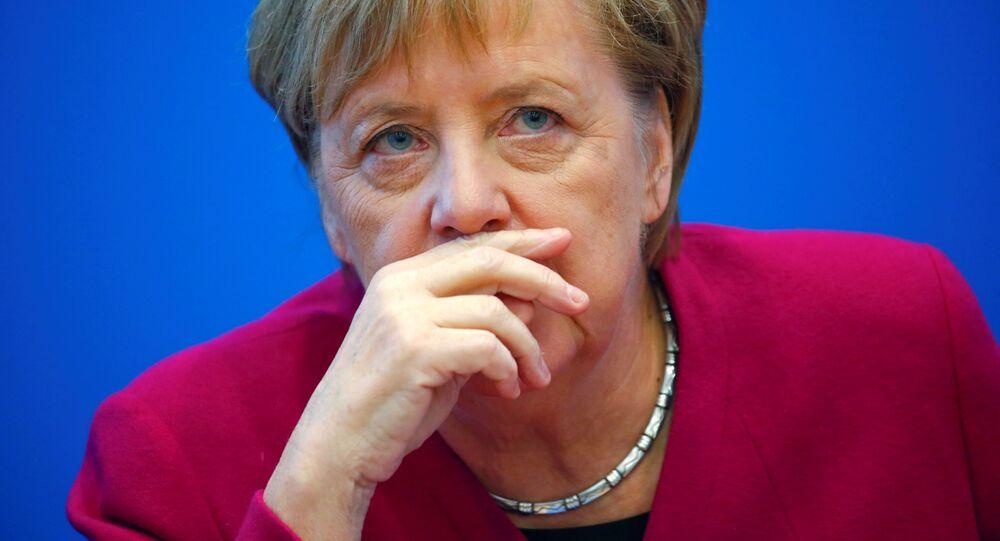 المستشارة الألمانية أنجيلا ميركل في برلين،  ألمانيا 29 أكتوبر/ تشرين الأول 2018
