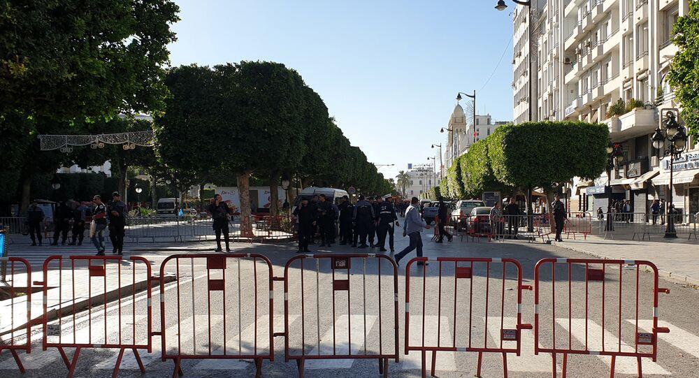مكان تفجير انتحاري في العاصمة التونسية، 29 أكتوبر 2018