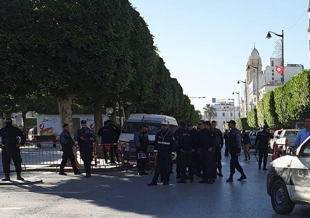 موقع الانفجار وسط العاصمة تونس، تونس 29 أكتوبر/ تشرين الأول 2018