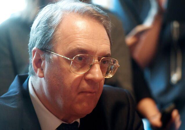 نائب وزير الخارجية الروسية، والمبعوث الخاص للرئيس الروسي للشرق الأوسط وشمال أفريقيا ميخائيل بوغدانوف