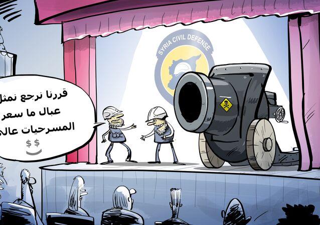 مركز المصالحة: الخوذ البيضاء تصل إدلب لتنفيذ عمل استفزازي بالأسلحة الكيميائية