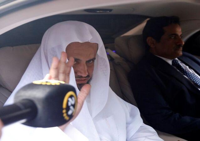 النائب العام السعودي سعود المعجب مع النائب العام التركي عرفان فيدان