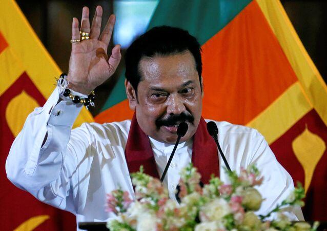 رئيس وزراء سريلانكا ماهيندا راجاباكسه