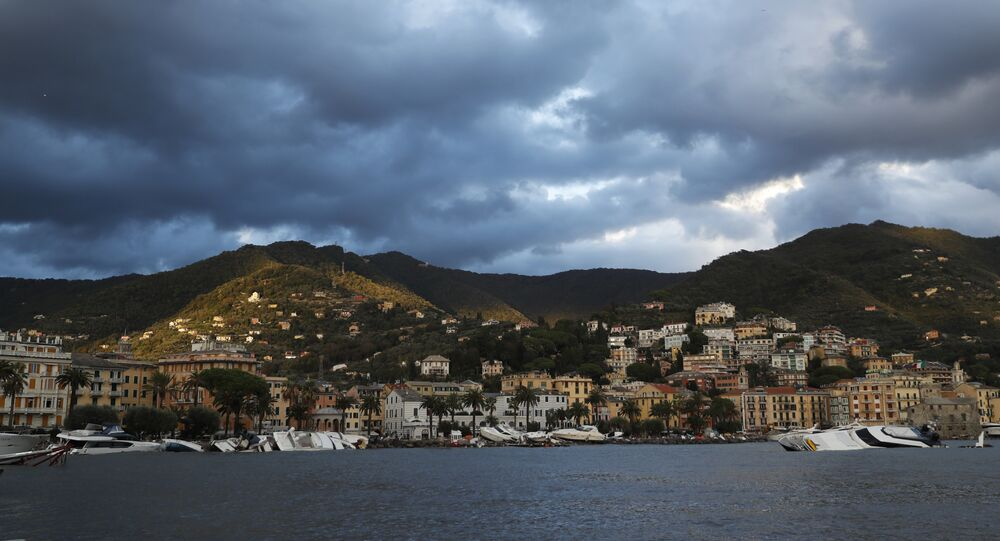 بلدة رابالو في مقاطعة جنوة، شمال إيطاليا