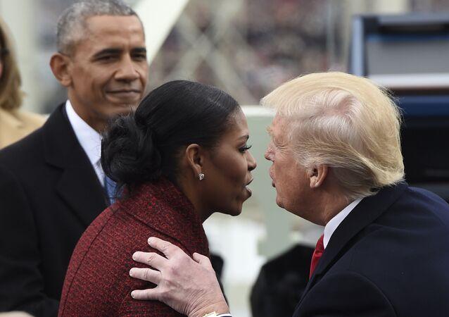 ميشيل أوباما في يوم تنصيب دونالد ترامب رئيسا للولايات المتحدة الأمريكية في واشنطن، 20 يناير/كانون الثاني 2017