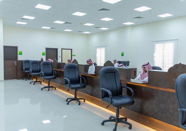 من داخل مبنى المحكمة العمالية في العاصمة السعودية الرياض